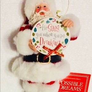 Santa Ornament He Sees You When You're Dri…